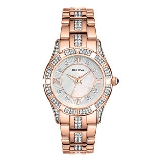 Bulova Women's 98L197 Rose Goldtone Stainless Steel Water-resistant Watch