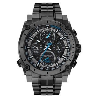 Bulova Men's 98B229 Black Stainless-steel Water-rwesistant Calendar Date Watch