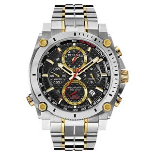 Bulova Men's 98B228 2-tone Stainless Steel Water-resistant Calendar Date Watch|https://ak1.ostkcdn.com/images/products/13847344/P20489945.jpg?impolicy=medium
