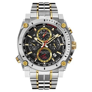 Bulova Men's 98B228 2-tone Stainless Steel Water-resistant Calendar Date Watch