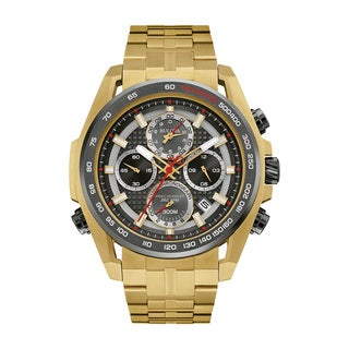 Bulova Men's Stainless Steel Gold-tone Water-resistant Watch