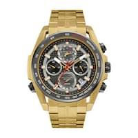 Bulova Men's Stainless Steel Gold-tone Water-resistant Watch