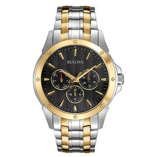 Bulova Men's Two-tone Stainless Steel Analog Watch