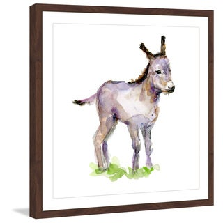 Marmont Hill - 'Baby Donkey' by Michelle Dujardin Framed Painting Print
