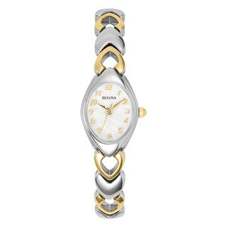 Bulova Women's 98V02 Stainless Steel Two-tone Water Resistant Watch