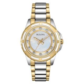 Bulova Women's Two-tone Stainless Steel Diamond Watch