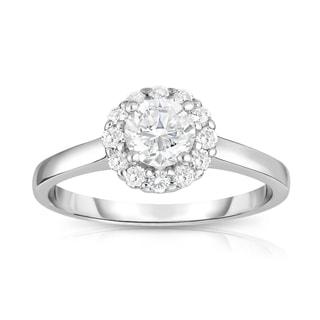 Noray Designs 14k White Gold 7/8ct TDW White Diamond Cluster Ring (G-H, I1-I2)