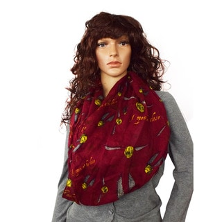 Harry Potter Women's Golden Snitch Standard Infinity Scarf