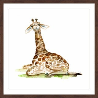 Marmont Hill - 'Baby Giraffe' by Michelle Dujardin Framed Painting Print