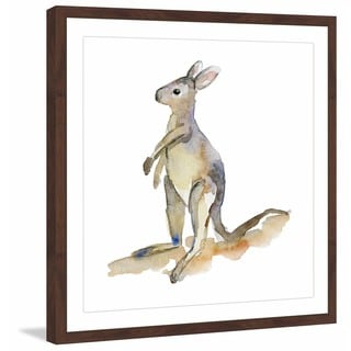 Marmont Hill - 'Baby Kangaroo' by Michelle Dujardin Framed Painting Print