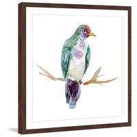 Marmont Hill - 'Fruit Dove Ping' by Michelle Dujardin Framed Painting Print