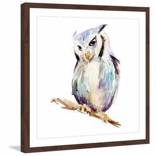 Marmont Hill - 'Tiny Owl' by Michelle Dujardin Framed Painting Print