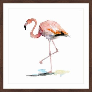 Marmont Hill - 'Flamingo First' by Michelle Dujardin Framed Painting Print
