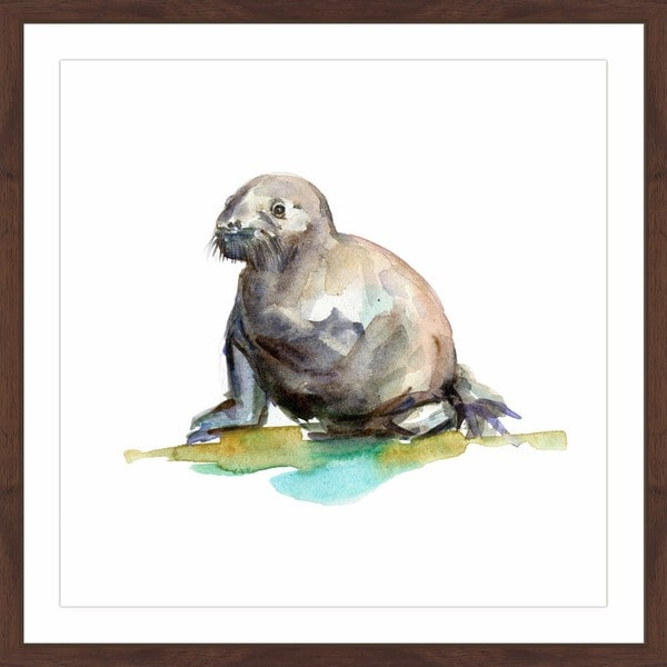 Marmont Hill - 'Baby Walrus' by Michelle Dujardin Framed Painting Print