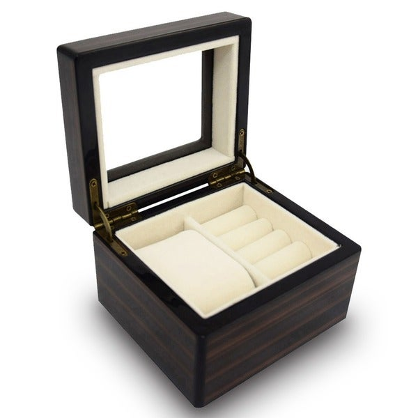 Ikee Design Premium Wooden Jewelry Storage Box  sc 1 st  Overstock.com & Shop Ikee Design Premium Wooden Jewelry Storage Box - Free Shipping ...