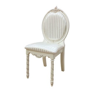 Acme Furniture Pearl Chair, Pearl White & Gold Brush Accent