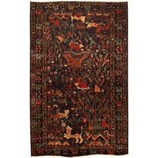 Herat Oriental Afghan Hand-knotted Tribal Balouchi Wool Rug (4'3 x 6'7)