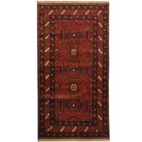 Handmade Herat Oriental Afghan Tribal Balouchi Wool Rug - 3'3 x 6'5 (Afghanistan)