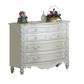 Acme Furniture Pearl Dresser with Goldtone Brush Accent