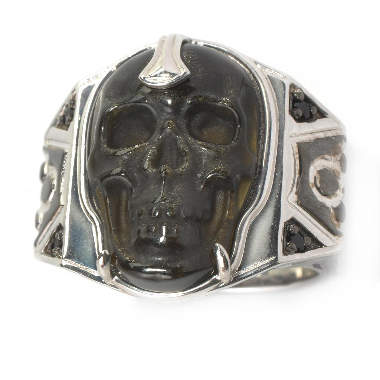 Mens skull wedding bands Rings