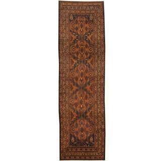 Herat Oriental Afghan Hand-knotted Tribal Balouchi Wool Runner (2'9 x 9'2)