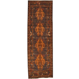 Herat Oriental Afghan Hand-knotted Tribal Balouchi Wool Runner (3'1 x 9'8)