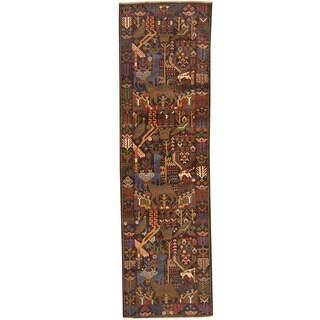 Herat Oriental Afghan Hand-knotted Tribal Balouchi Wool Runner (2'9 x 9'8)