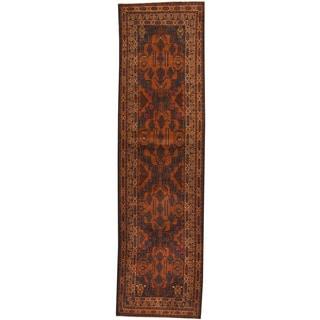 Herat Oriental Afghan Hand-knotted Tribal Balouchi Wool Runner (2'8 x 9'7)