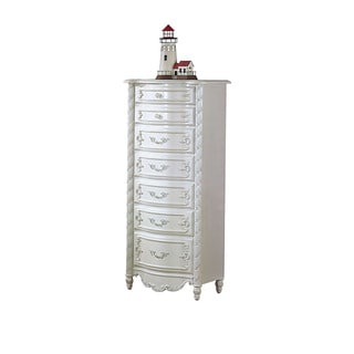 Acme Furniture Pearl Chest, Pearl White & Gold Brush Accent