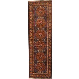Herat Oriental Afghan Hand-knotted Tribal Balouchi Wool Runner (2'11 x 9'10)