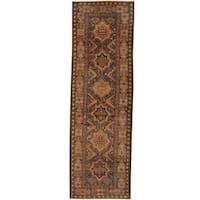 Herat Oriental Afghan Hand-knotted Tribal Balouchi Wool Runner - 2'11 x 9'5