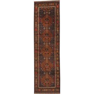 Herat Oriental Afghan Hand-knotted Tribal Balouchi Wool Runner (2'10 x 9'10)
