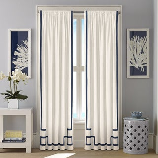 Nautica Ribbon Trim Cotton Twill Curtain Panel Set