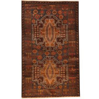 Handmade Herat Oriental Afghan Tribal Balouchi Wool Rug (Afghanistan) - 2'8 x 4'6