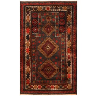 Handmade One-of-a-Kind Balouchi Wool Rug (Afghanistan) - 2'9 x 4'4