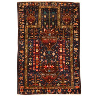 Herat Oriental Afghan Hand-knotted Tribal Balouchi Wool Rug (3'3 x 4'10)