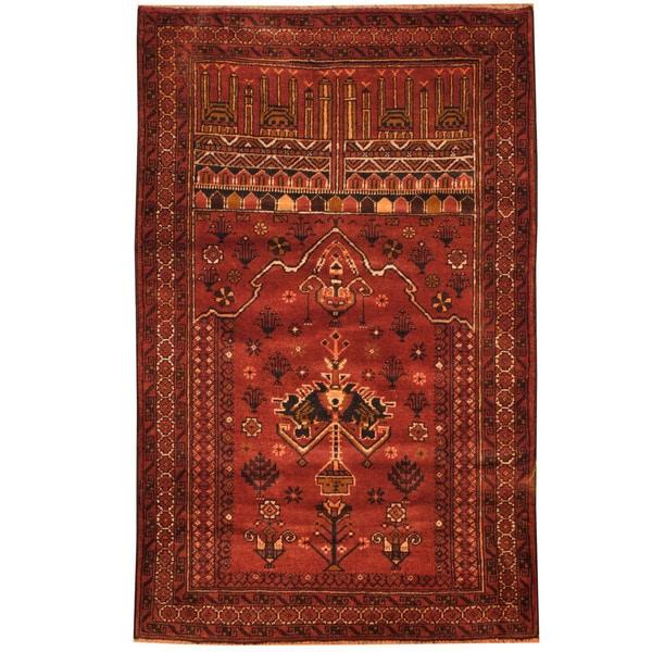 Handmade Herat Oriental Afghan Tribal Balouchi Wool Rug (Afghanistan) - 2'11 x 4'8