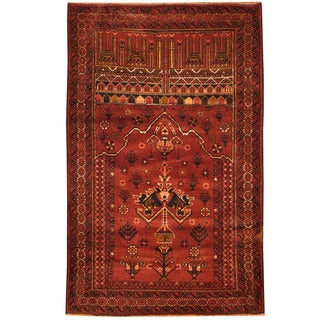Herat Oriental Afghan Hand-knotted Tribal Balouchi Wool Rug (2'11 x 4'8)