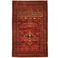 Herat Oriental Afghan Hand-knotted Tribal Balouchi Wool Rug (2'11 x 4'8)