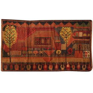 Herat Oriental Afghan Hand-knotted Tribal Balouchi Wool Rug (2'9 x 4'11)