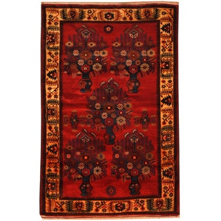 Herat Oriental Afghan Hand-knotted Tribal Balouchi Wool Rug (3'1 x 4'9)