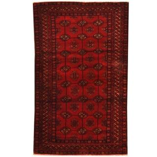 Herat Oriental Afghan Hand-knotted Tribal Balouchi Wool Rug (3' x 4'11)