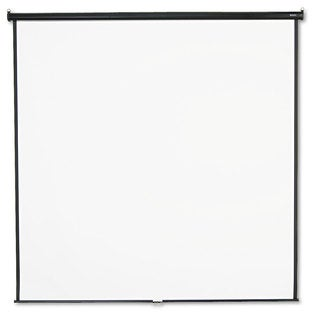 Quartet Wall or Ceiling Projection Screen 96 x 96 White Matte Black Matte Casing