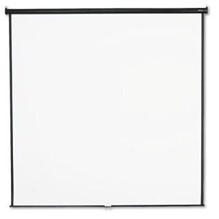 Quartet Wall or Ceiling Projection Screen 96 x 96 White Matte Black Matte Casing