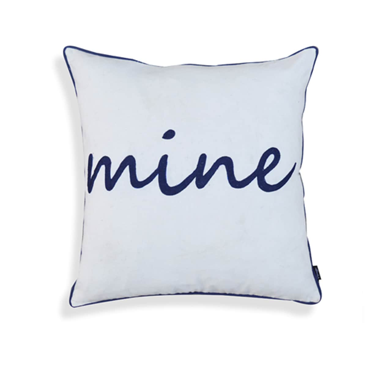 Norma Blue And White Cotton18 Inch X 18 Inch Mine Pillow Overstock 13848466