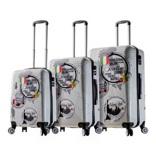 Mia Viaggi Italy World Icon 3-piece Hardside Spinner Luggage Set