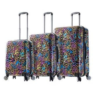 Mia Viaggi Italy Pop Animal Paint 3-piece Hardside Spinner Luggage Set