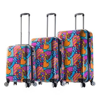 Mia Viaggi Italy Butterfly/Love/Flower 3-piece Hardside Spinner Luggage Set