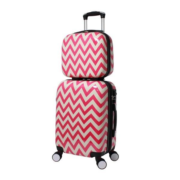 9eeee548b World Traveler Chevron 2-piece Lightweight Hardside Carry-on Spinner  Luggage Set
