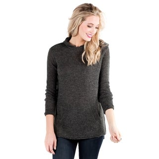 Downeast Basics Women's Grey Kangaroo Court Sweater